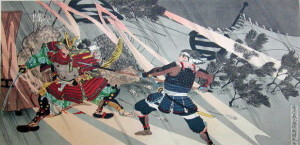 Our Nobunaga and his less than 2,000 samurai defeated enemy invader Imagawa's 25,000 to 40,000 © SamuraiAcademy.org