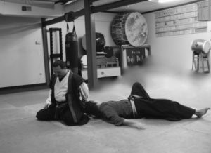 60 year practitioner, Tsuji Soke demonstrates in the classes © SamuraiAcademy.org